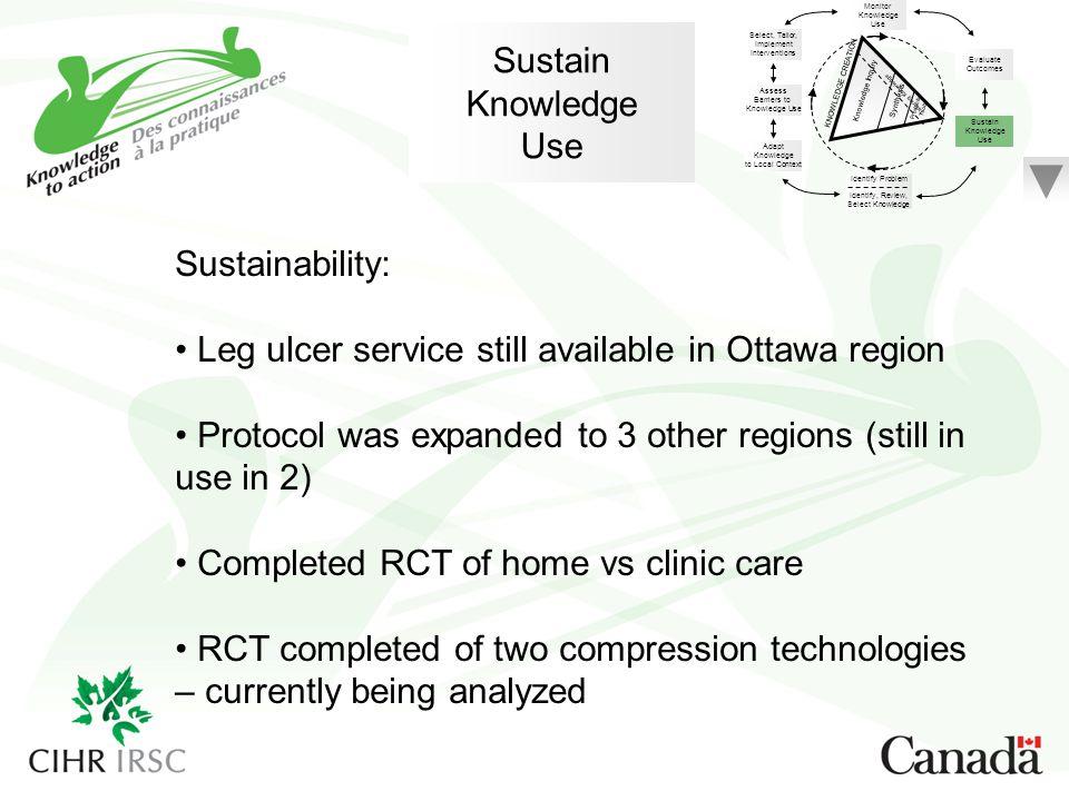 Leg ulcer service still available in Ottawa region