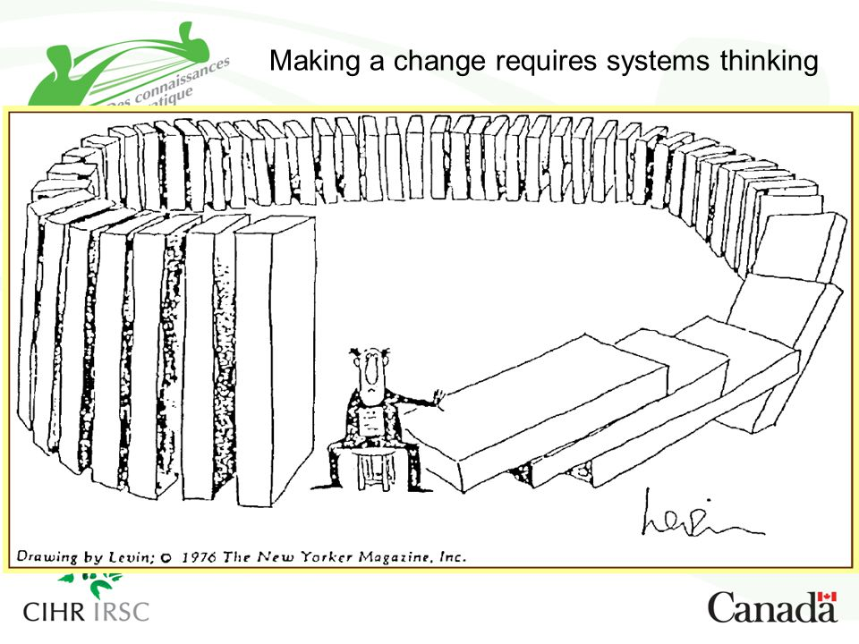 Making a change requires systems thinking