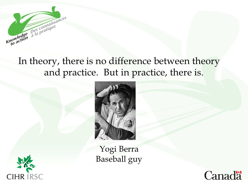 In theory, there is no difference between theory and practice