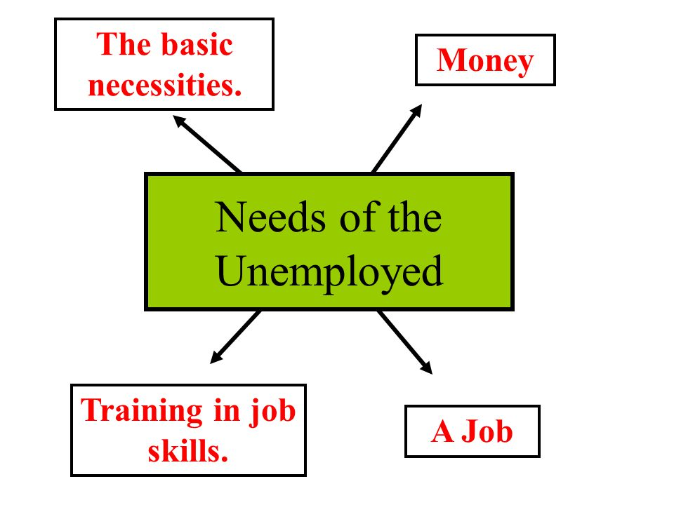 Needs of the Unemployed