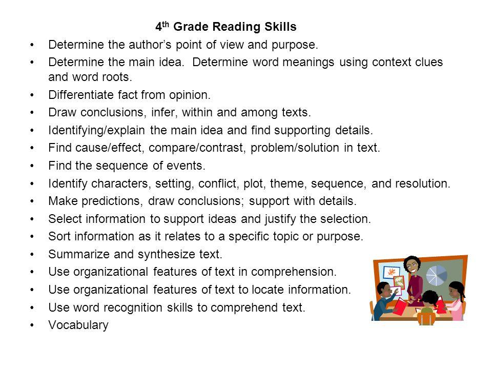 4th Grade Reading Skills
