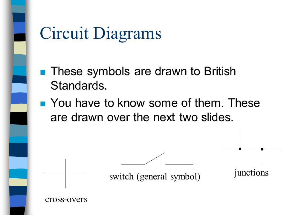 Circuit Diagrams These symbols are drawn to British Standards.