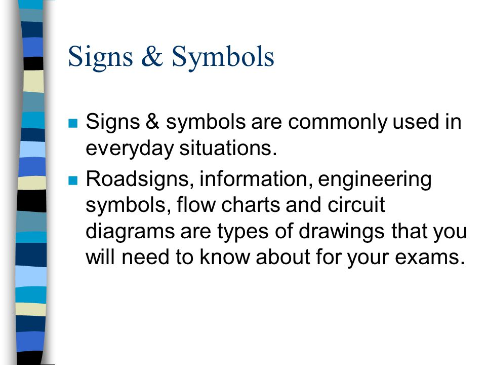 Signs & Symbols Signs & symbols are commonly used in everyday situations.