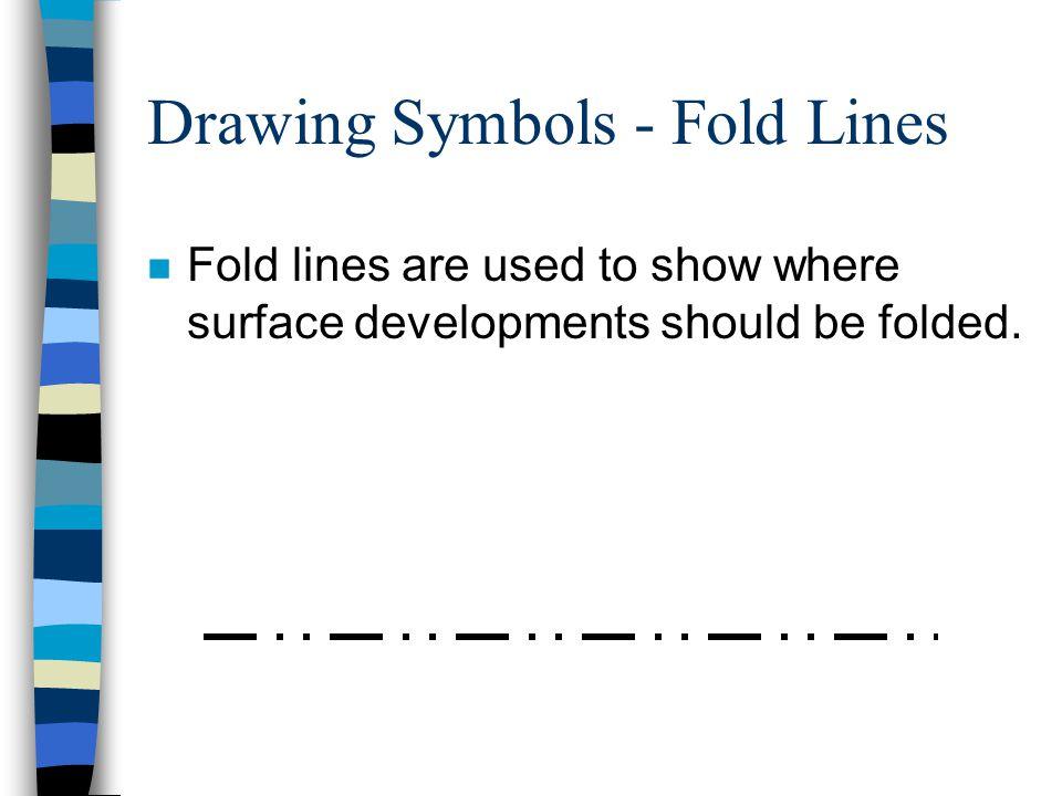 Drawing Symbols - Fold Lines