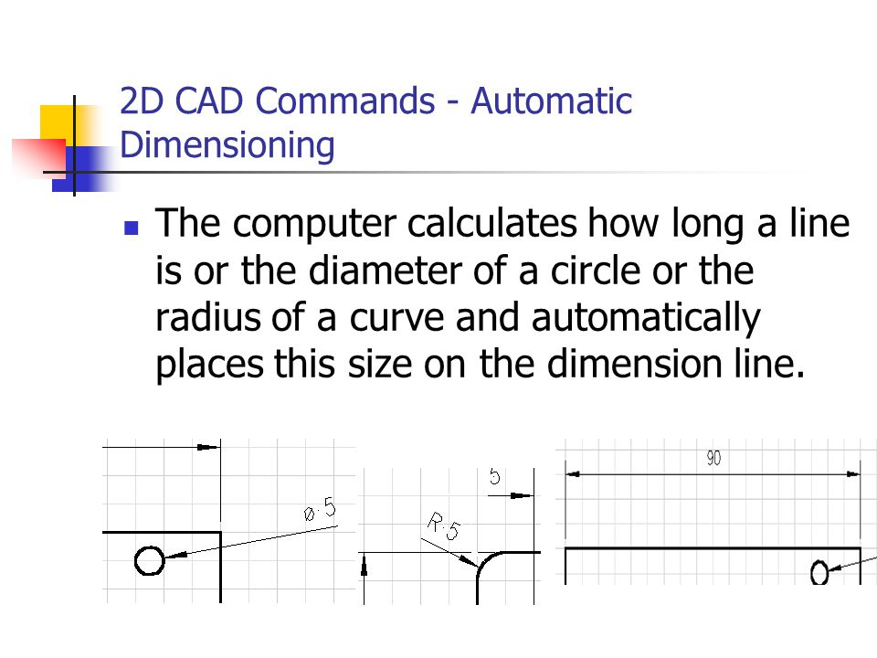 2D CAD Commands - Automatic Dimensioning