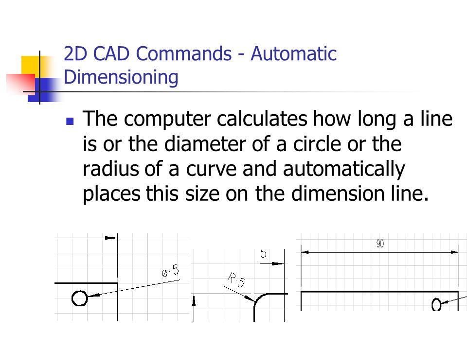 2D CAD Commands - Automatic Dimensioning