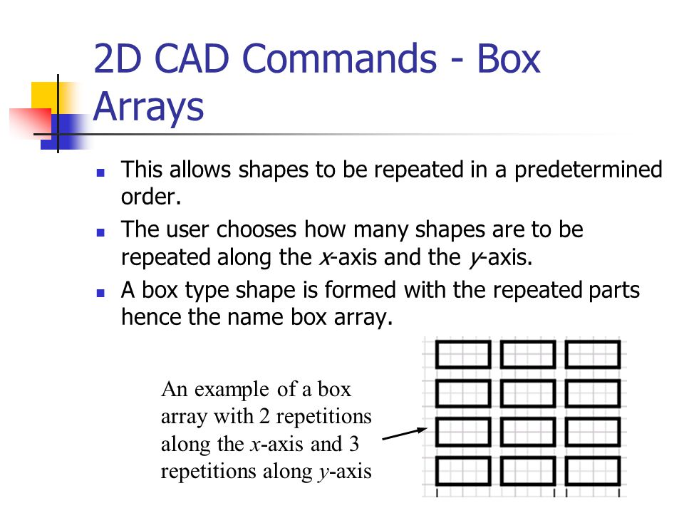 2D CAD Commands - Box Arrays