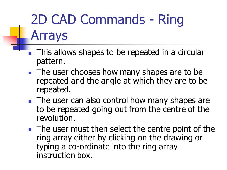2D CAD Commands - Ring Arrays
