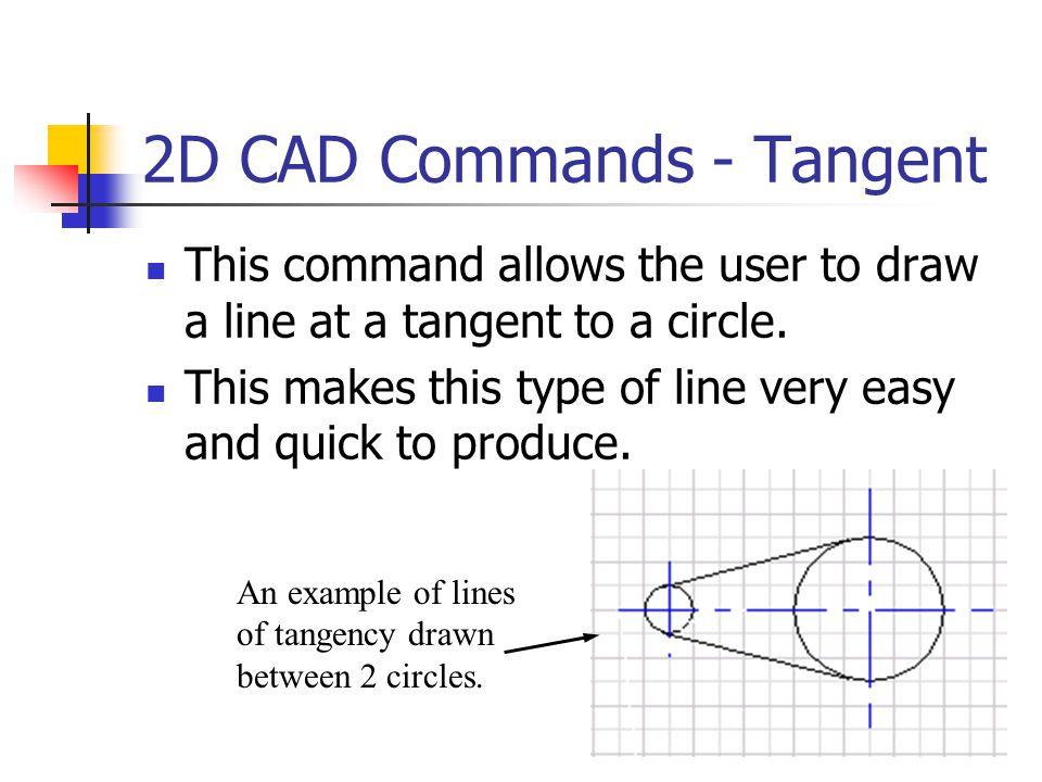 2D CAD Commands - Tangent