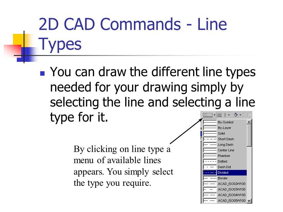 2D CAD Commands - Line Types