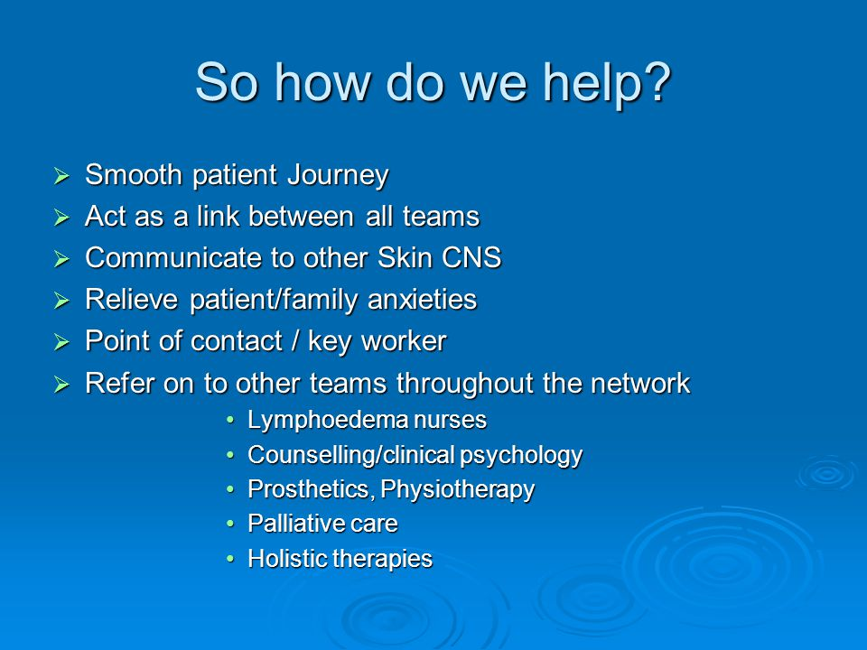 So how do we help Smooth patient Journey