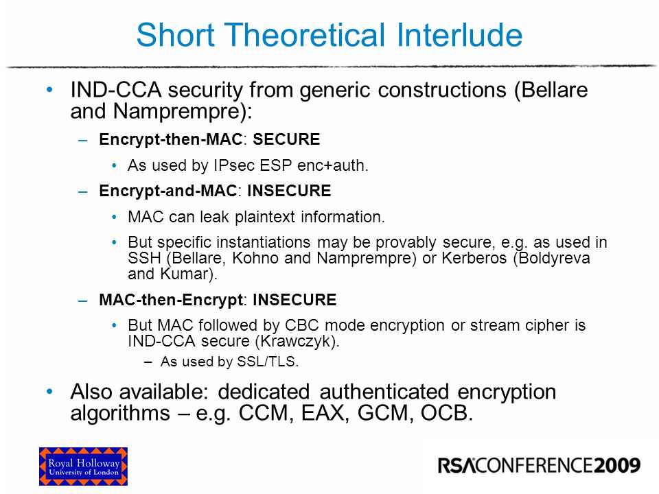 Why encryption alone is not enough – IPsec