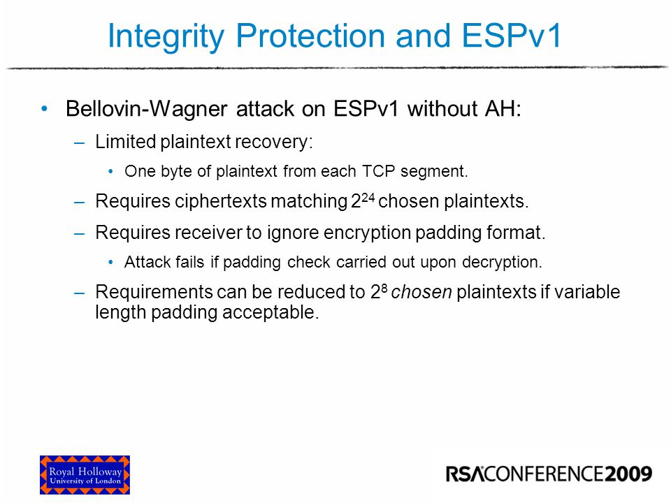 Integrity Protection and ESPv2