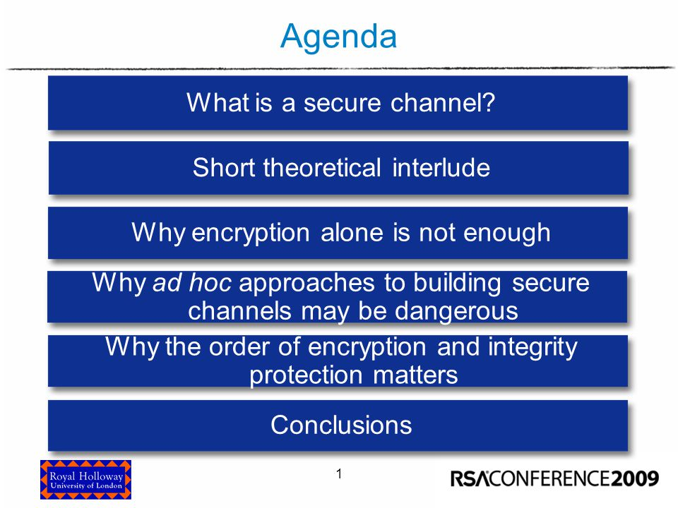 What is a secure channel