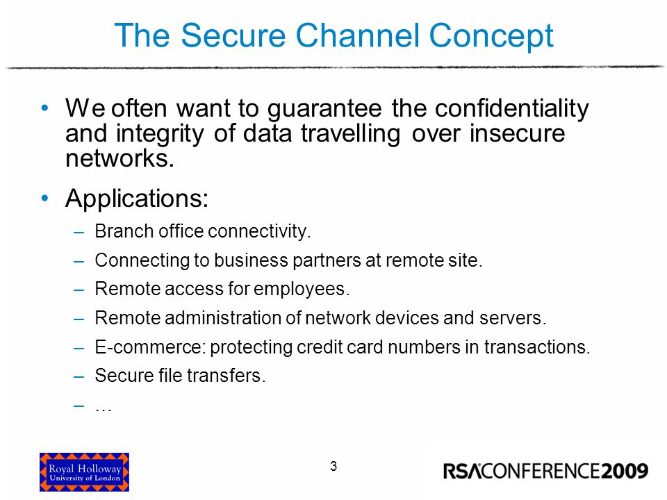 The Secure Channel Concept