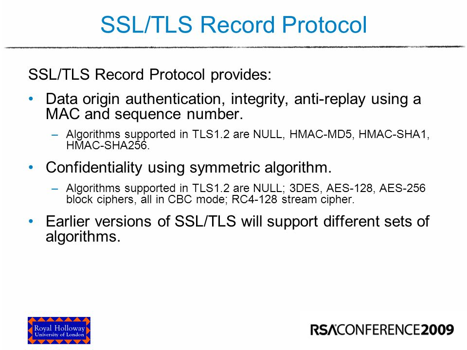 SSL/TLS Record Protocol (Simplified)