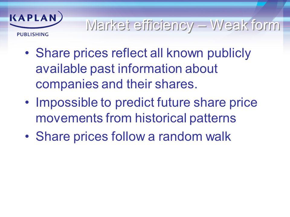 Market efficiency – Weak form