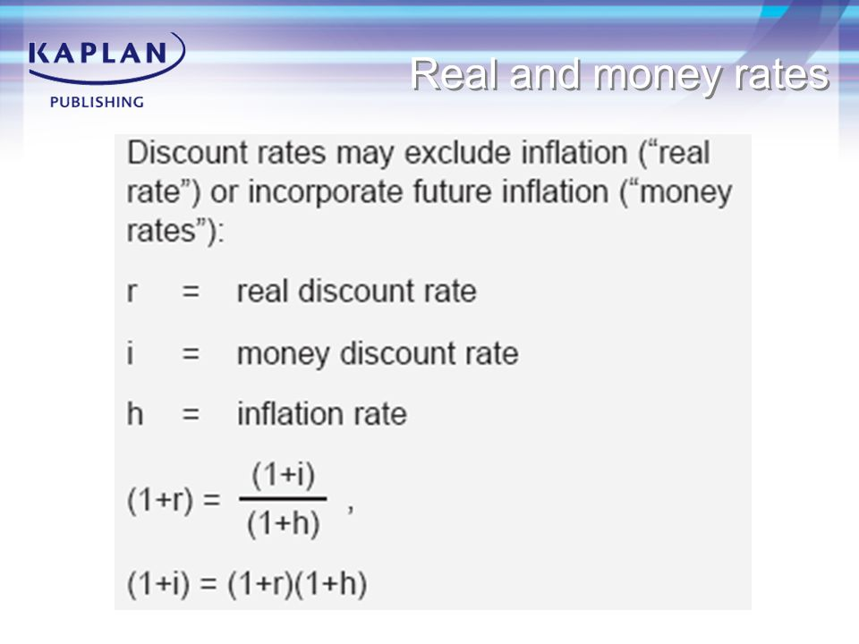 Real and money rates
