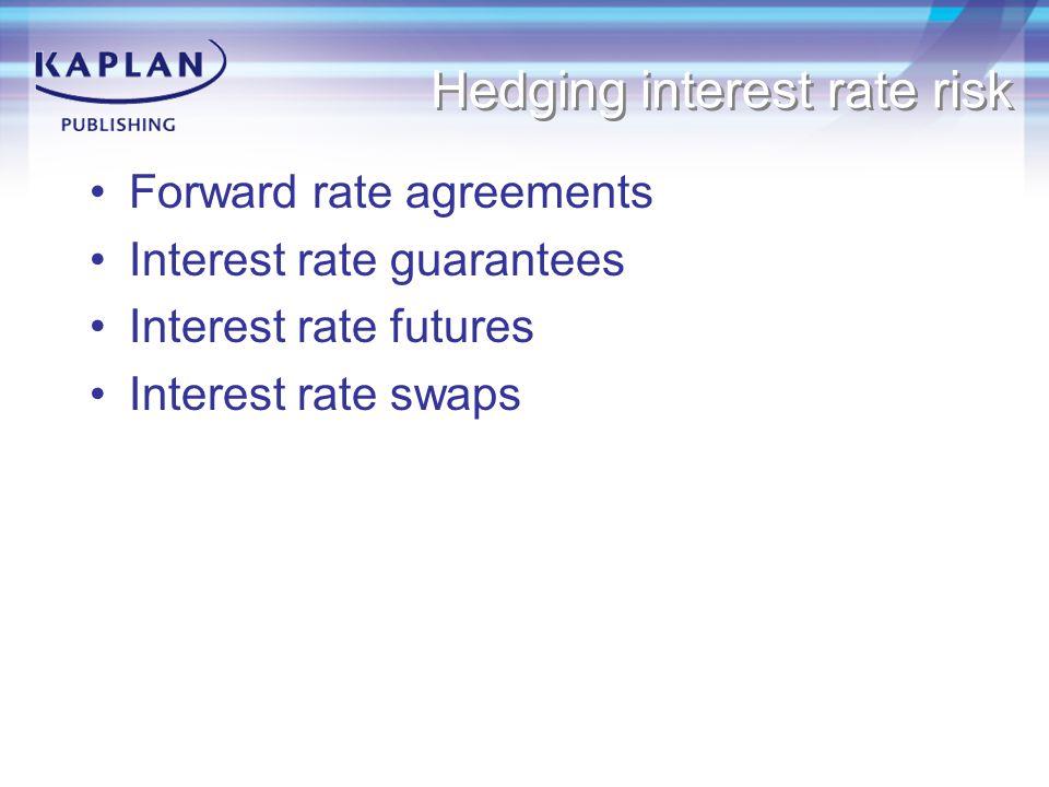 Hedging interest rate risk