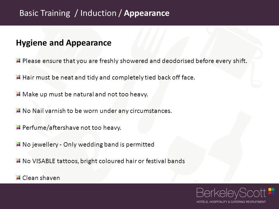 Basic Training / Induction / Appearance