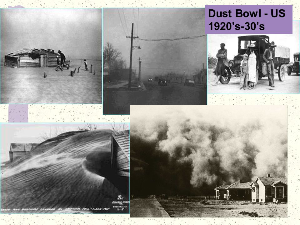 Dust Bowl - US 1920's-30's
