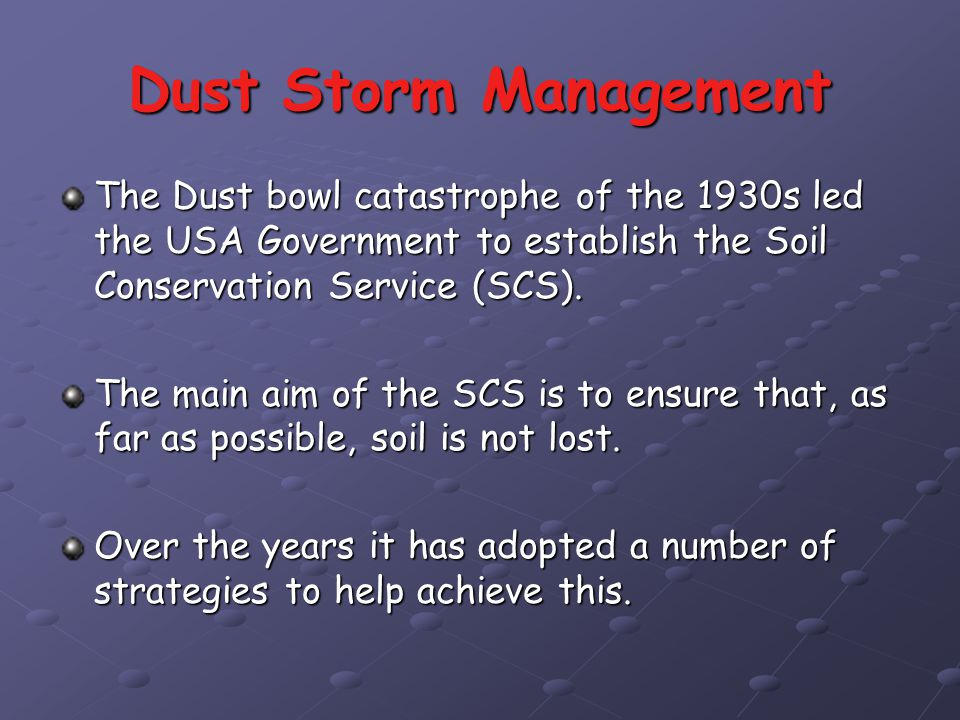 Desertification in north america ppt video online download for Soil conservation act