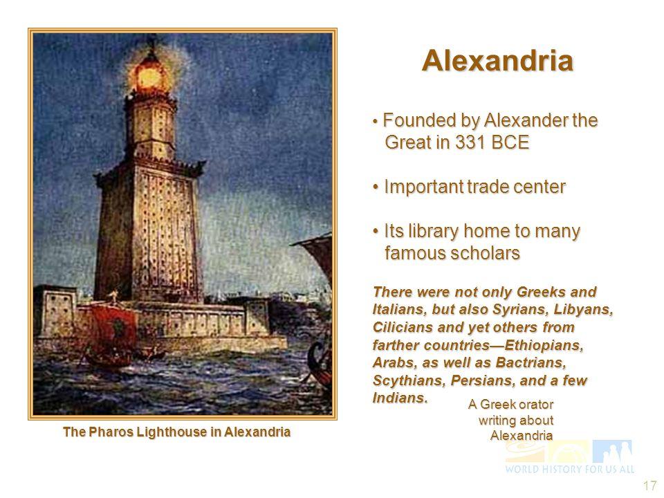 Alexandria • Important trade center