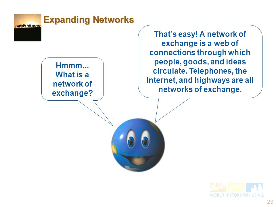 Hmmm... What is a network of exchange