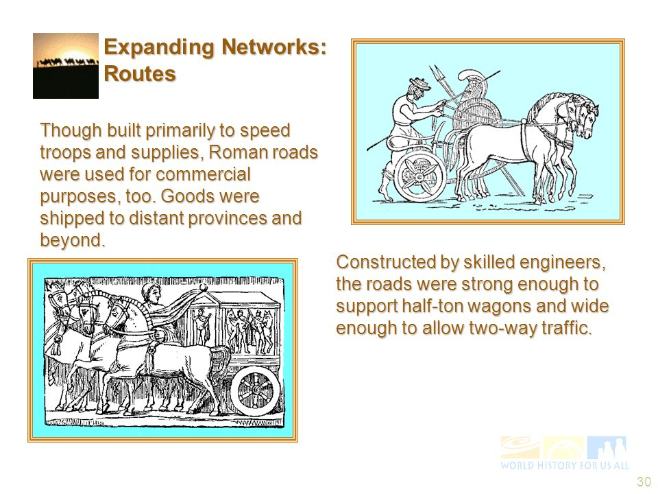 Expanding Networks: Routes