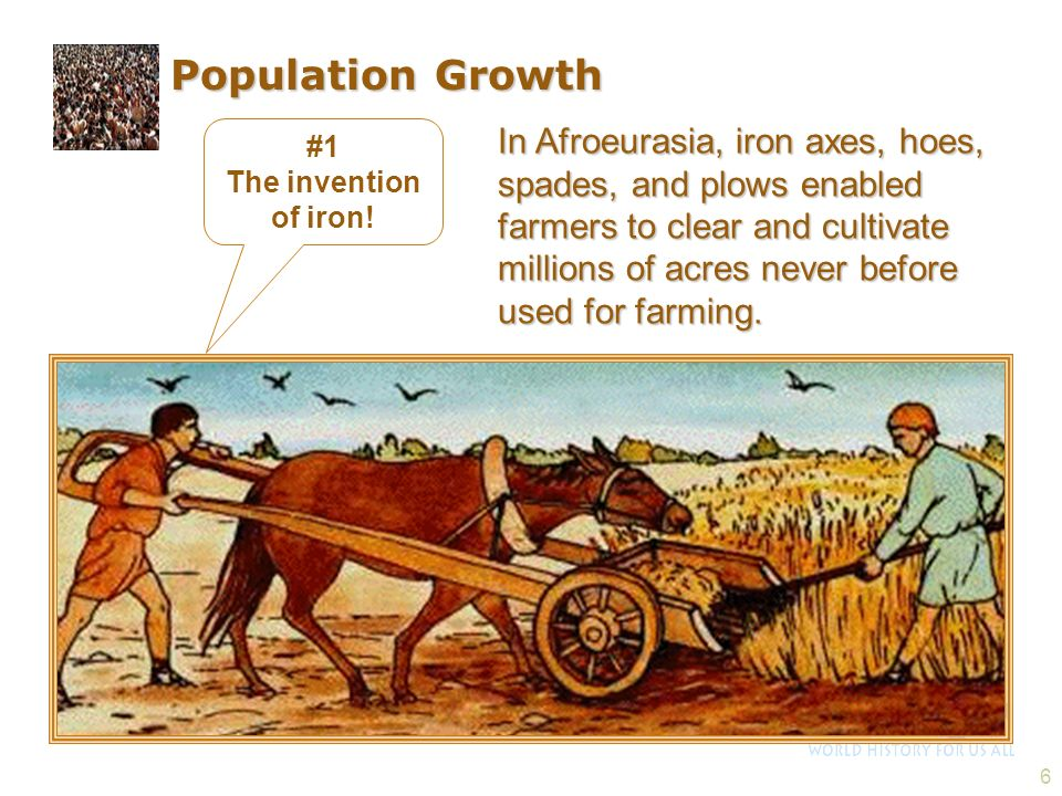 Population Growth #1. The invention of iron!