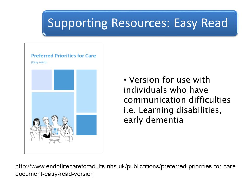 Supporting Resources: Easy Read