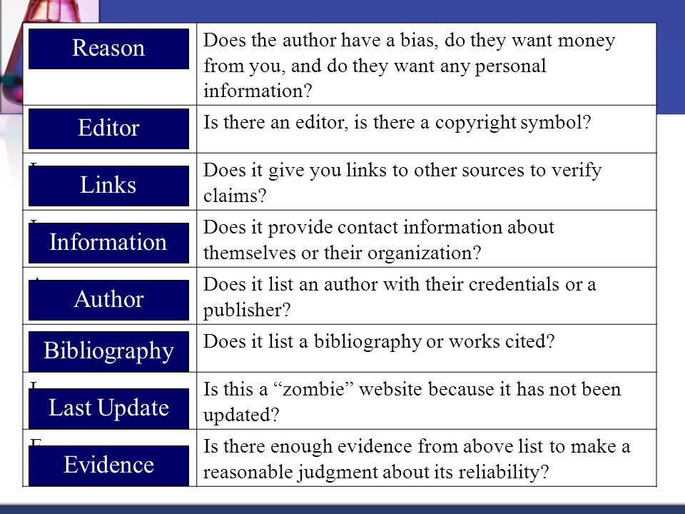 Reason Editor Links Information Author Bibliography Last Update