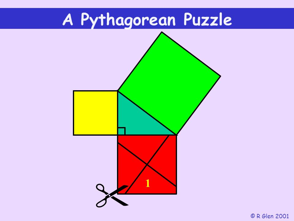 A Pythagorean Puzzle 1  © R Glen 2001