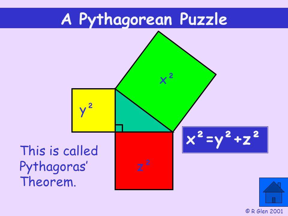 A Pythagorean Puzzle x²=y²+z² x² y²