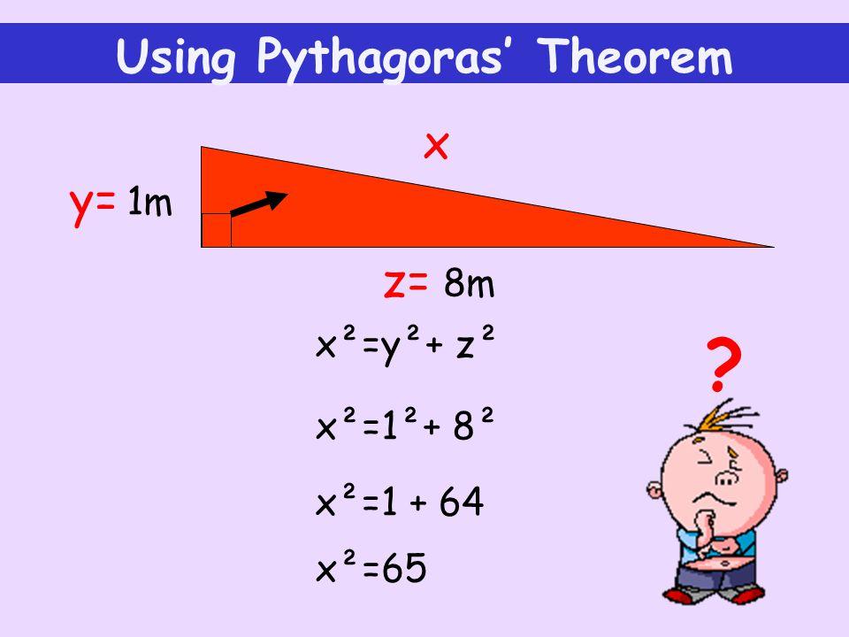 Using Pythagoras' Theorem