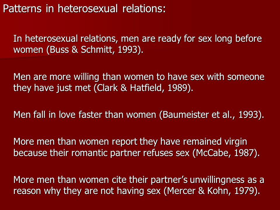Patterns in heterosexual relations: