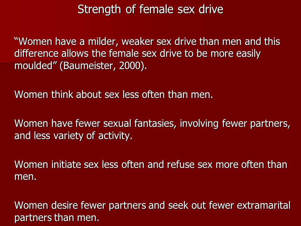 Strength of female sex drive