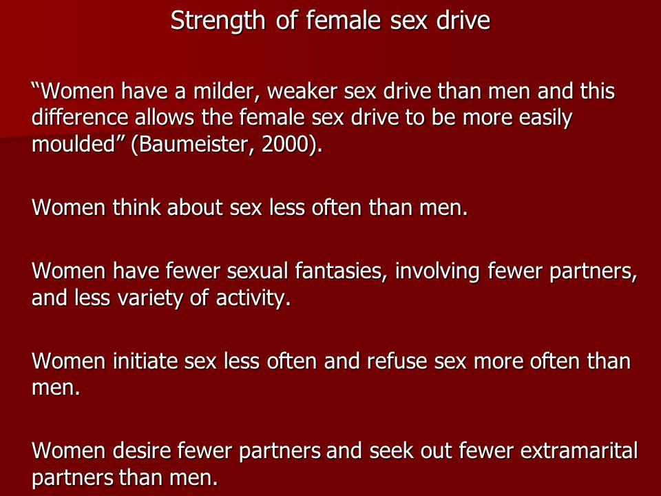Strength of female sex drive