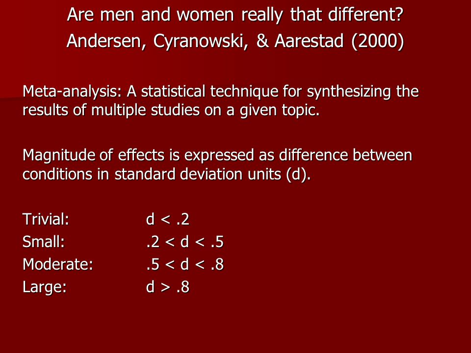 Are men and women really that different