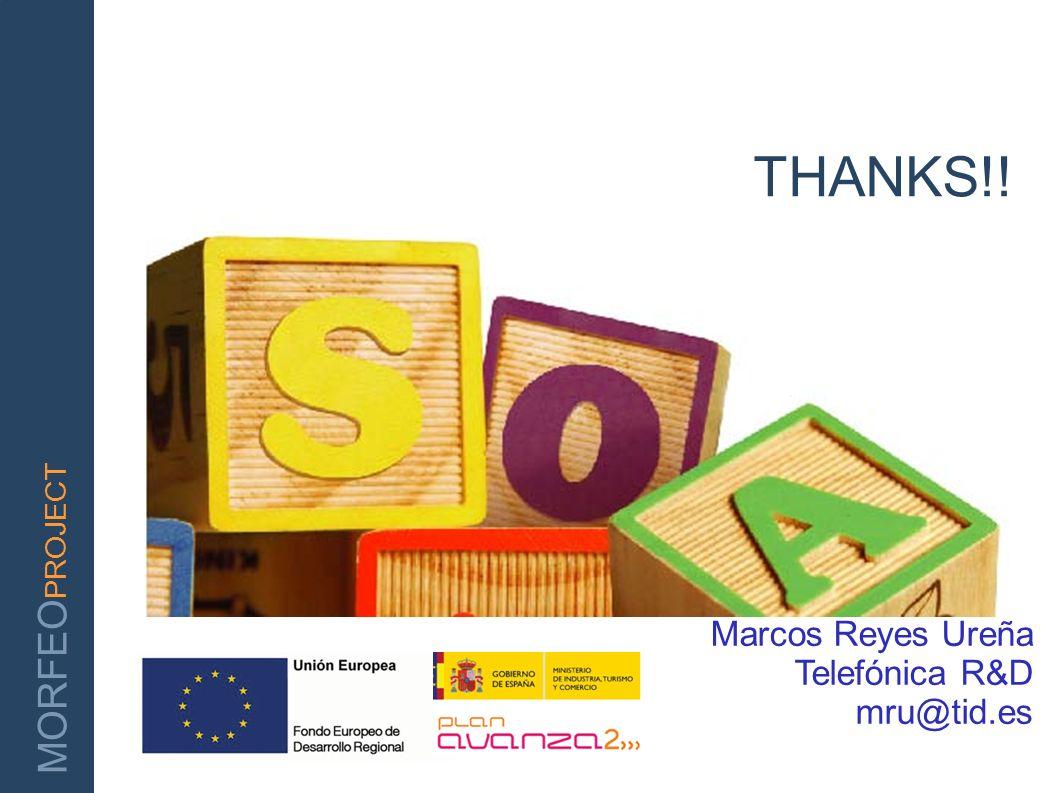 THANKS!! Marcos Reyes Ureña Telefónica R&D mru@tid.es
