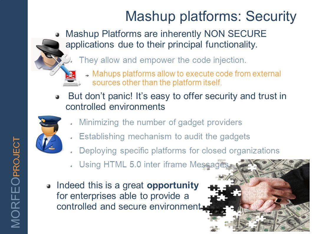 Mashup platforms: Security