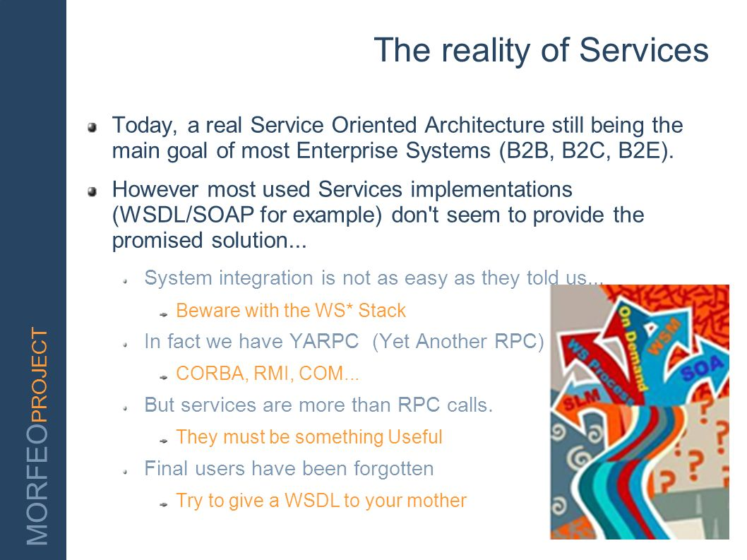 The reality of Services