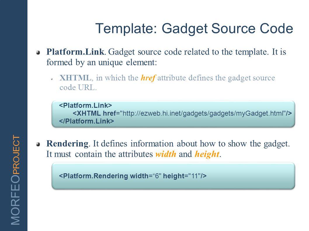 Template: Gadget Source Code