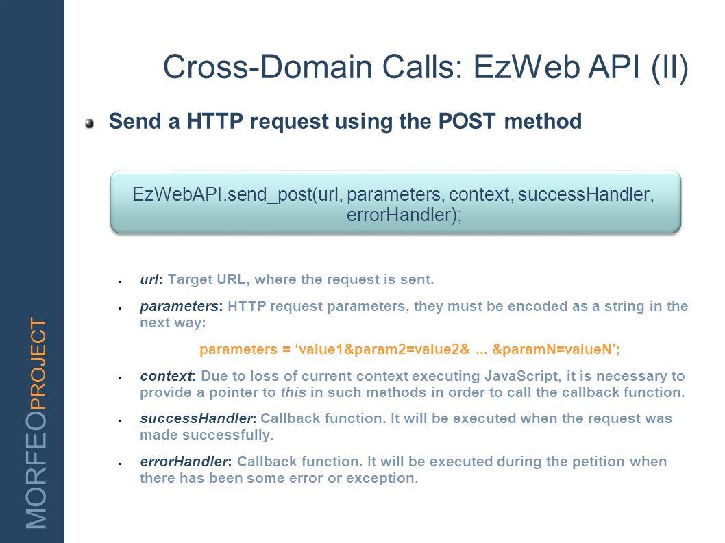 Cross-Domain Calls: EzWeb API (II)