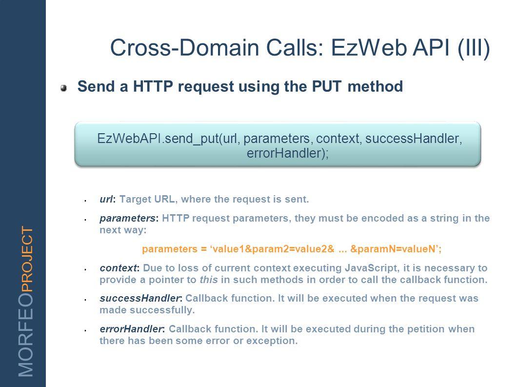Cross-Domain Calls: EzWeb API (III)