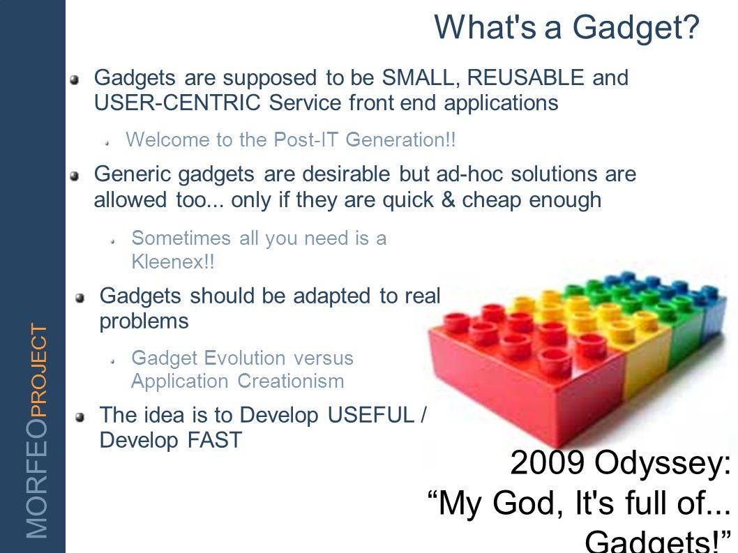 My God, It s full of... Gadgets!
