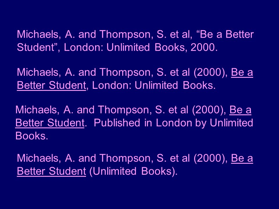 Michaels, A. and Thompson, S