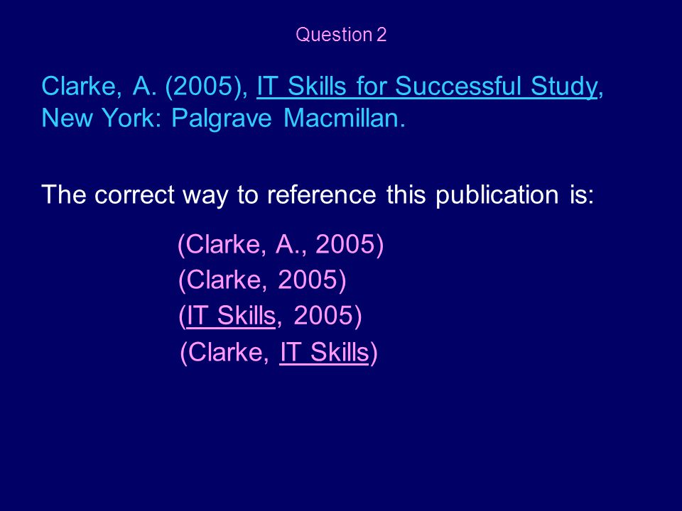 The correct way to reference this publication is: