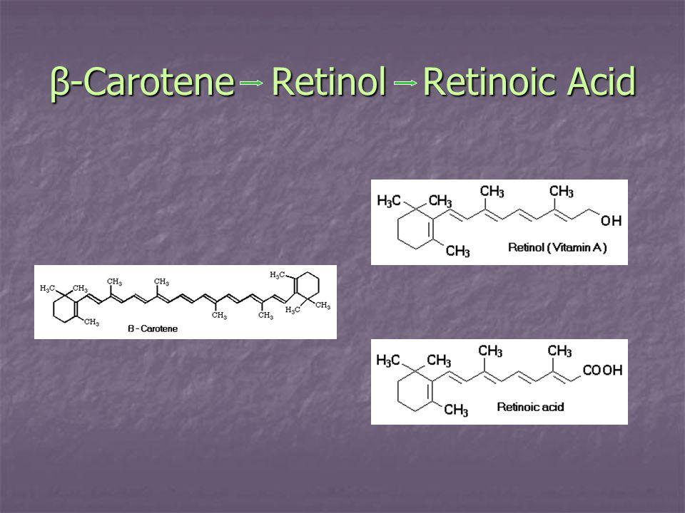β-Carotene Retinol Retinoic Acid
