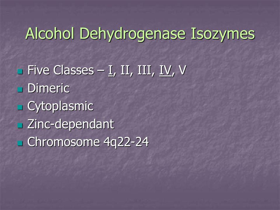 Alcohol Dehydrogenase Isozymes